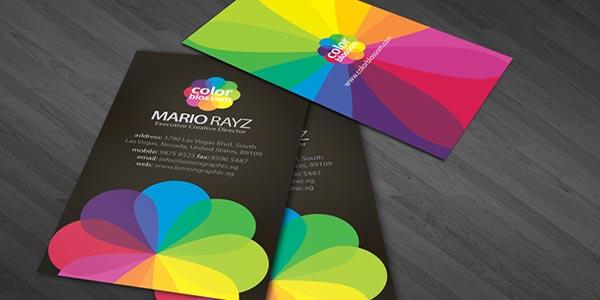 روانشناسی رنگ ها در کارت ویزیت