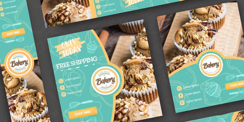 دانلود طرح لایه باز بنر تبلیغاتی شیرینی پزی