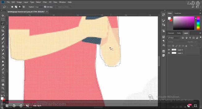 آموزش ابزار lasso در فتوشاپ